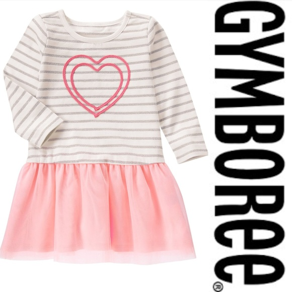 Gymboree Other - Gymboree Girl 12-18 M Heart Sparkle Tutu Dress NWT